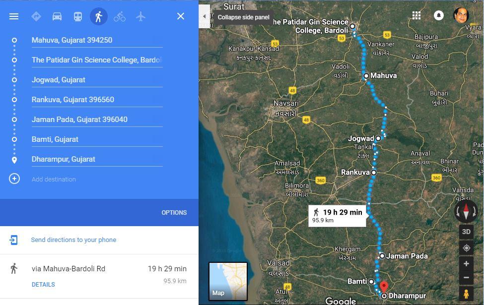 Bardoli Dharampur 100kms.JPG
